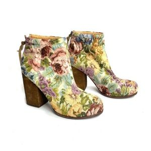 Jeffrey Campbell 'Rebel' Floral Fabric Ankle Boots
